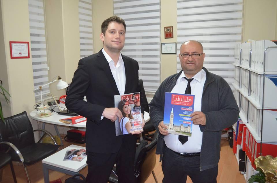 Culture Works yetkilisi Syn. michal malecka ofisimizi ziyaret etti , Edulife dergisini çok beğendi
