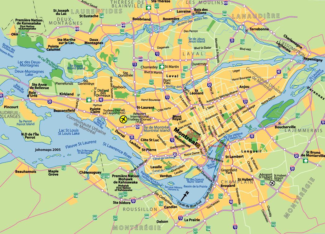 Montreal Haritası